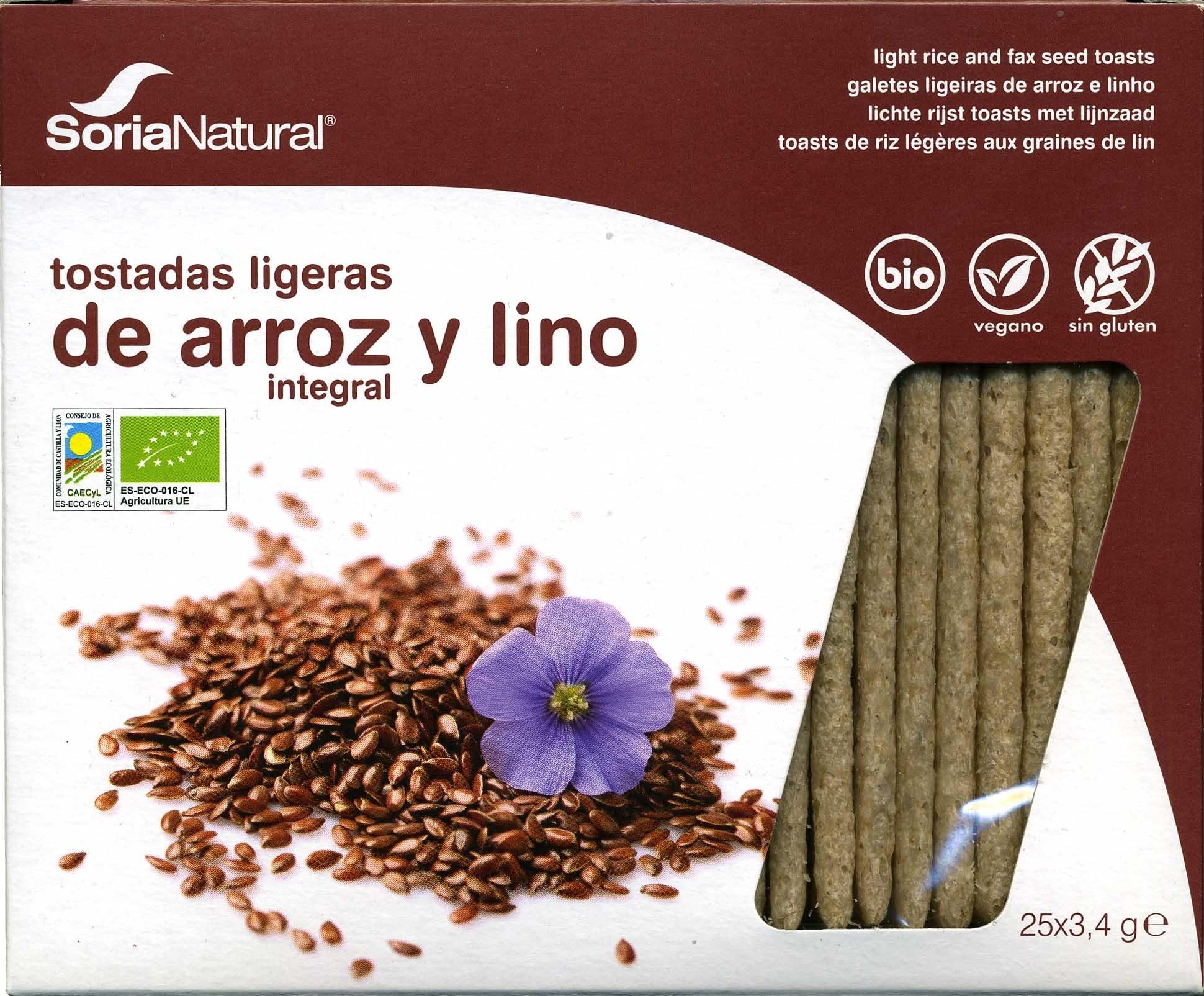 Tostadaa ligeras arroz integral y lino - Producto - es