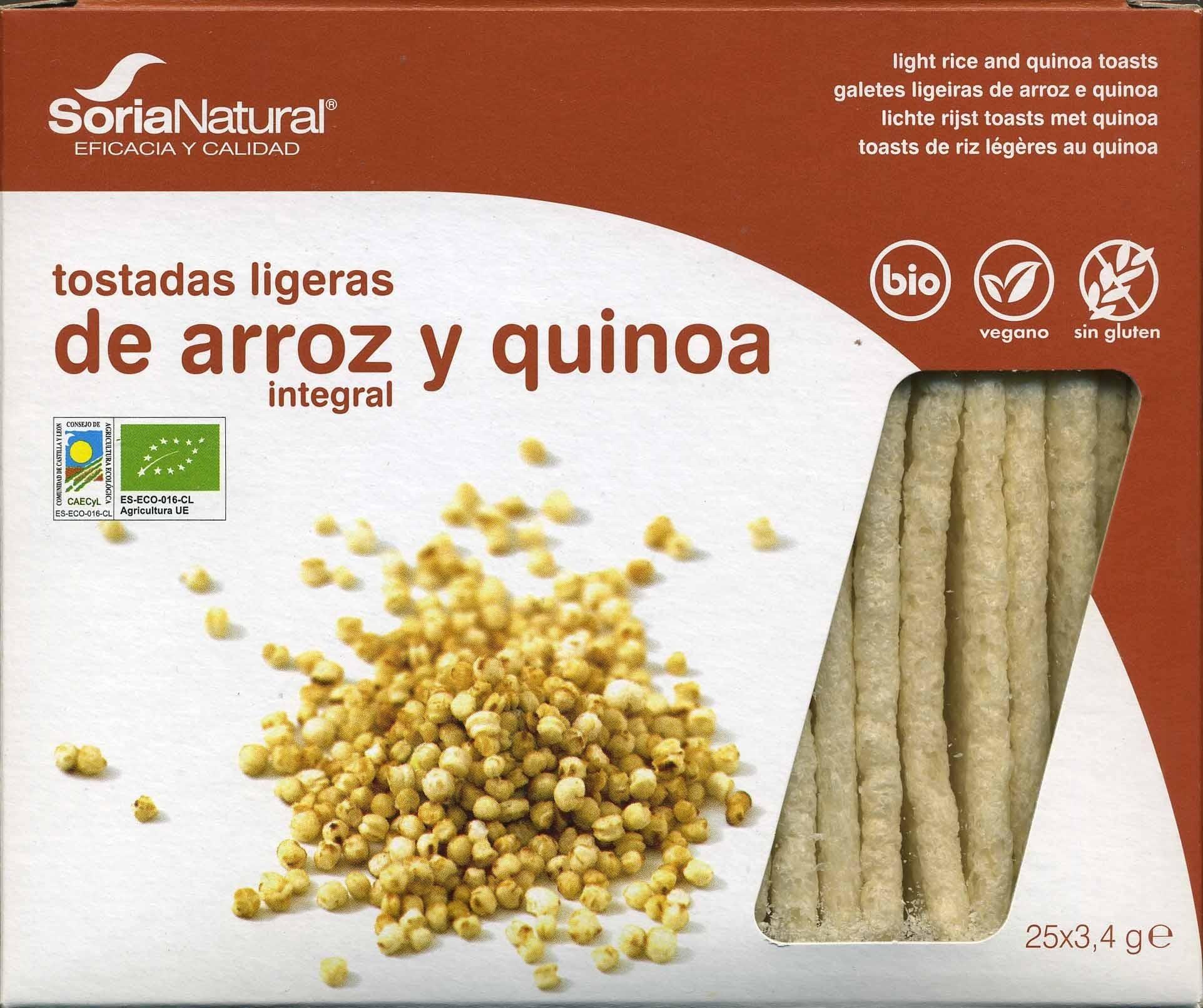Tostadas ligeras de arroz y quinoa - Produit - es