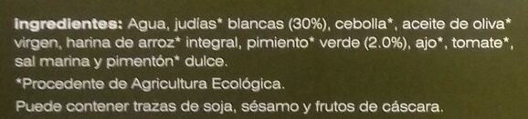 Judías blancas estofadas - Ingredients