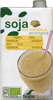 "Bebida de soja ecológica ""Soria Natural"" con canela al limón - Producte"