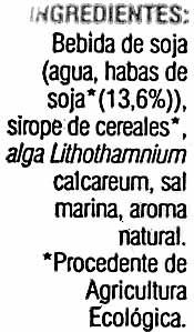 Bebida de soja orgánica ecológica - Ingredients - es