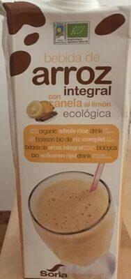 Bebida de arroz integral con canela al limón - Product - es
