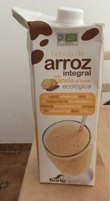 Bebida de arroz integral con canela al limón - Produit - fr