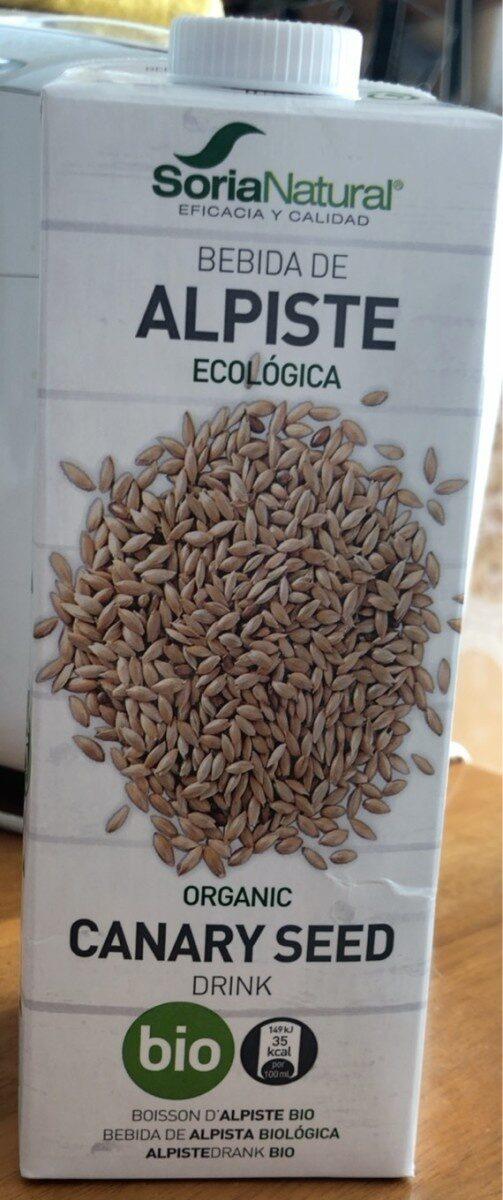 Bebida de alpiste ecológica y sin lactosa - Product - es
