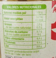 Garbanzo cocido extra - Valori nutrizionali - es