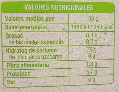 Lenteja pardina bio - Información nutricional