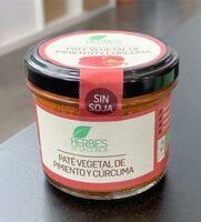 Paté vegetal de pimiento y cúrcuma - Product - es