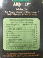 Aceite de oliva - Información nutricional - es