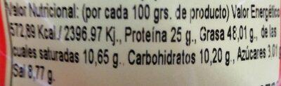 Cacahuetes - Información nutricional - es