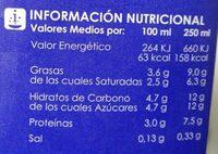 LECHE UHT ENTERA - Voedingswaarden - es