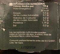 Pimiento rojo entero - Nutrition facts