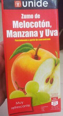Zumo de melocoton, manzana y uva
