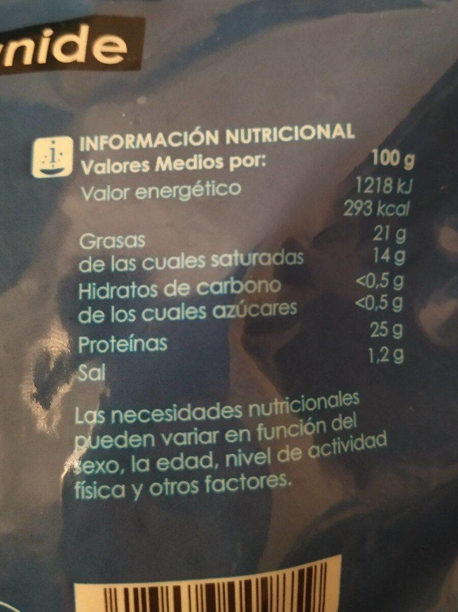 Mozzarella rallada - Información nutricional