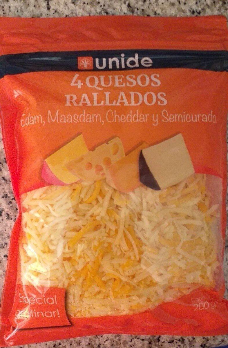 4 quesos rallados - Producto
