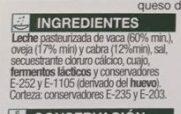 Quedo mezcla semicurado en lonchas - Ingredients