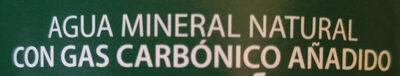 Agua mineral natural - Ingredients - es