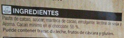 Chocolate postres fundir - Ingredients