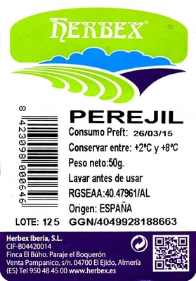 Perejil liso - Ingredientes - es