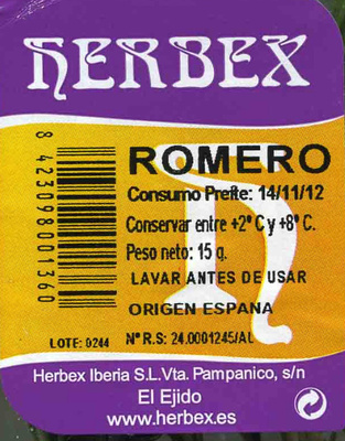 Romero fresco - Ingrédients