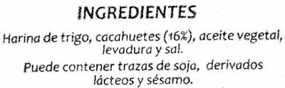 Panes especiales Cacahuete - Ingredients - es