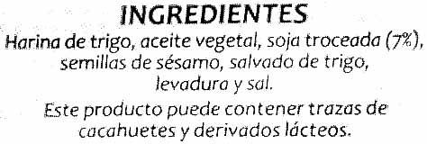 Panes especiales Soja - Ingrediënten