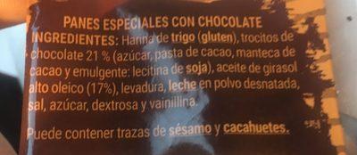 Panes especiales - Ingredientes