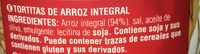 Tortitas de arroz integral - Ingrediënten - fr