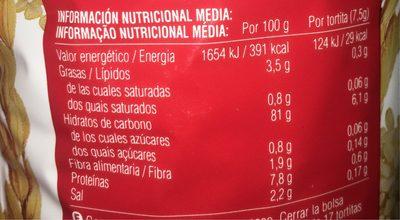 Galettes de Riz Complet - Nutrition facts