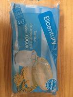 Tortitas Arroz Integral Yogurt Bicentury - Producte