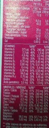 Sustituye yogur y limón - Información nutricional