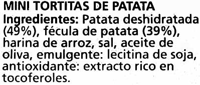 """Mini tortitas de patata """"Nackis"""" - Ingredientes"""