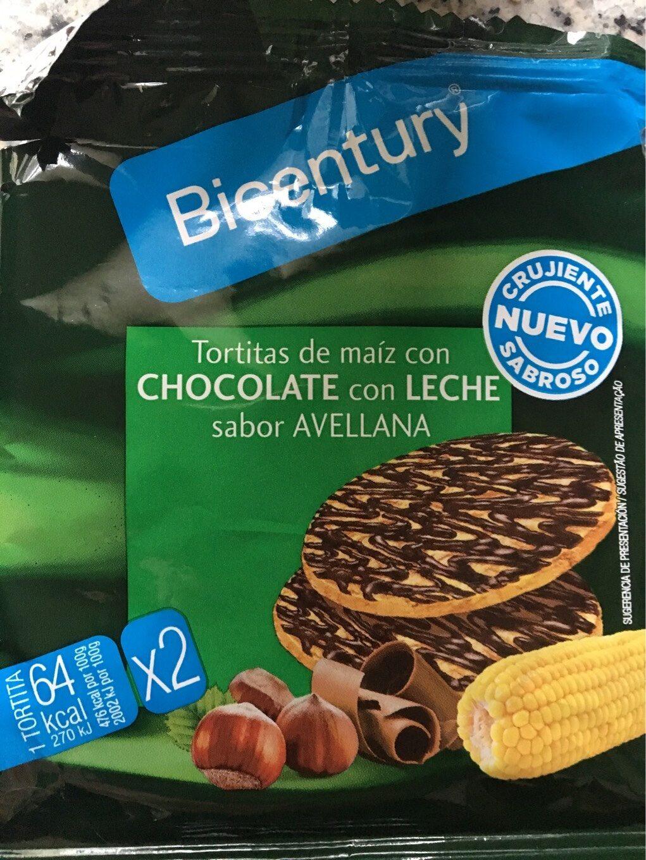 Tortitas de maiz con chocolate con leche - Producto