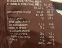 Tortitas arroz integral con Choc negro - Valori nutrizionali - es
