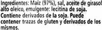 Tortitas de maíz - 4 Packs - Ingredients
