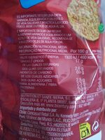 Tortitas de maíz sabor tomate con aceite de oliva - Voedingswaarden - es