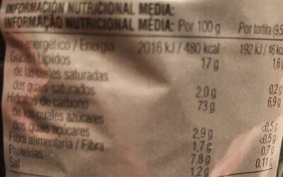 Tortitas de maíz sabor setas, trufa y queso - Voedingswaarden - es