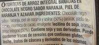 Tortitas de arroz integral bañadas en chocolate negro - Ingredientes - es