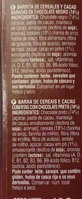 snack chocolate - Ingredients - en