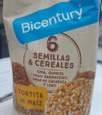6 semillas y cereales. Tortita de maiz - Producto - fr