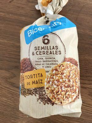 Tortitas de maíz con 6 semillas y cereales - Producto