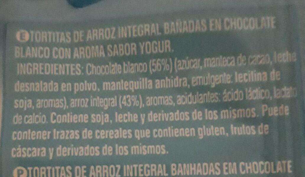 Tortitas de arroz integral sabor yogur - Información nutricional - es