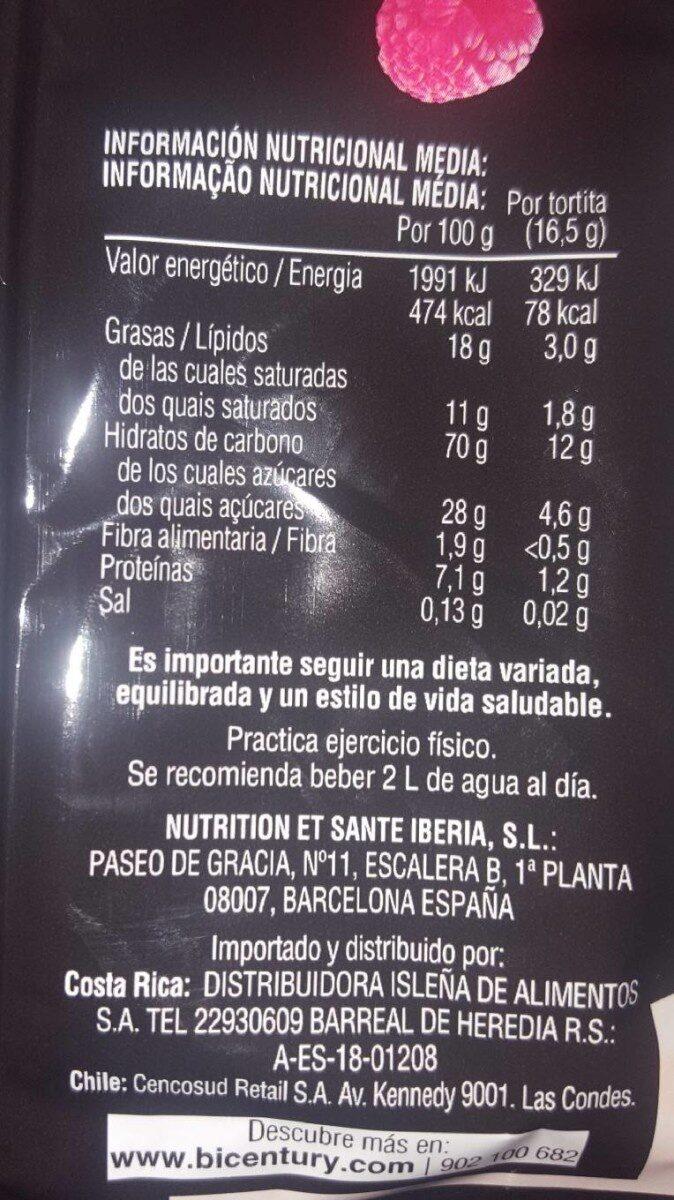 Tortita - Voedigswaarden