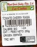 """Tomates cherry en rama """"La Caña"""" - Ingredientes - es"""