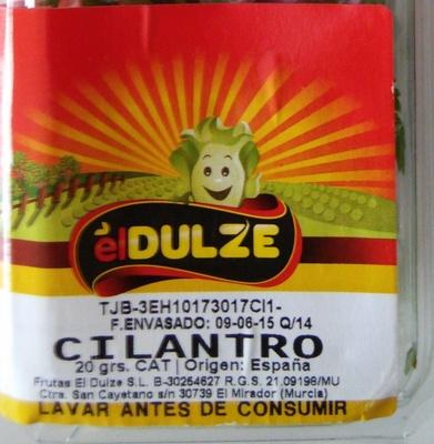 Cilantro - Ingredientes - es
