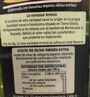 Aceite de oliva tudela trujal - Informations nutritionnelles - es