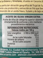 Aceite de Oliva Virgen extra - Informations nutritionnelles - es