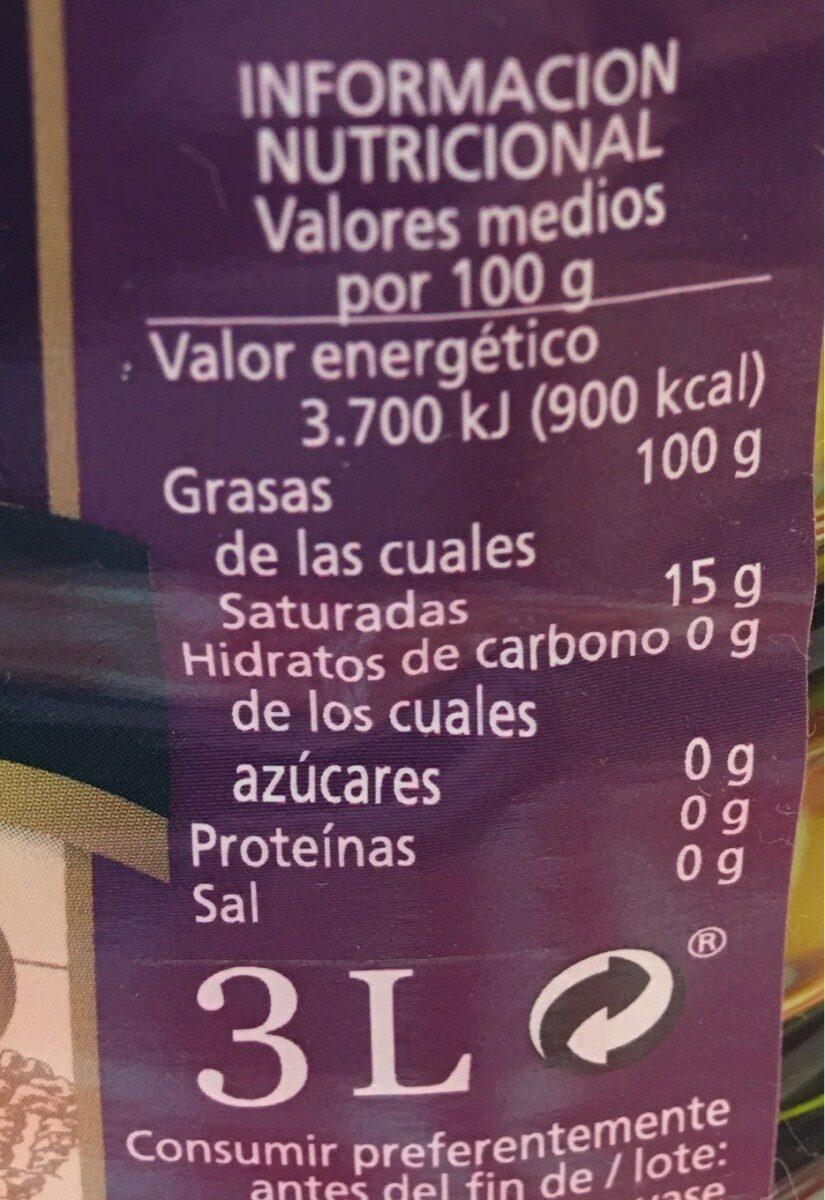Aceite trujal - Informations nutritionnelles - es