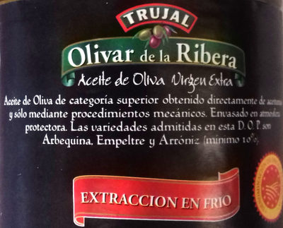 Aceite de Oliva Virgen Extra D.O.P. - Ingredients