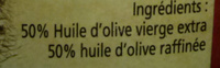 Huile d'olive - Ingredients - fr