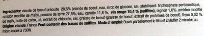 Bœuf Bourguignon et ses Pommes de Terre - Ingrediënten - fr
